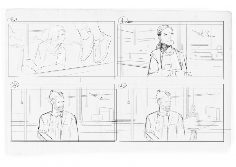 Example For Firstlines Storyboards/Layouts/Roughs (Agency: Serviceplan Berlin)